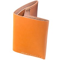 Bison Slim Bi Fold Wallet Tan