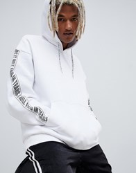 Weekday Big Hawk Hoodie With Taping In White