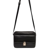 French Connection Clean Caroli Faux Leather Crossbody Bag Black