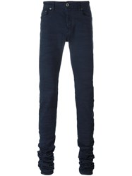 Diesel Black Gold Extended Leg Skinny Trousers Blue