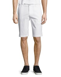 Ag Adriano Goldschmied Griffin Flat Front Shorts White