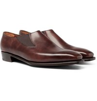 George Cleverley Bulow Burnished Leather Loafers Brown