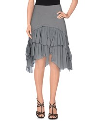 European Culture Skirts Knee Length Skirts Women Grey