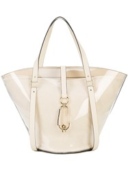 Zac Posen Belay Large Tote Bag Nude And Neutrals