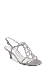Women's Adrianna Papell 'Amari' Evening Sandal Pewter Satin