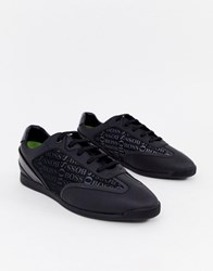 Boss Maze All Over Logo Trainers In Black