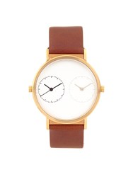 Kitmen Keung Long Distance 1.0 Steel And Leather Watch