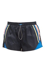 The Upside Magic Colour Blocked Technical Shorts Navy Multi