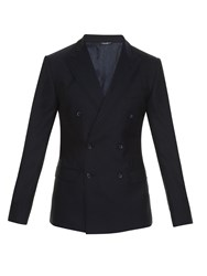 Dolce And Gabbana Double Peak Lapel Double Breasted Blazer