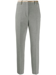 Peserico Cropped Tailored Trousers Grey