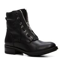Aldo Isaaca Lace Up Flat Ankle Boots Black