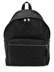 Eastpak 24L Pak'r Quilted Leather Backpack Black