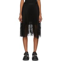 Mcq By Alexander Mcqueen Black Pleated Skirt
