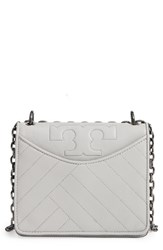 Tory Burch Chevron Quilted Leather Crossbody Bag Grey Concrete