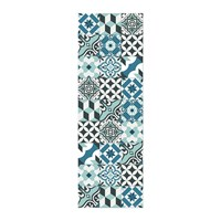 Hibernica Collection Ceramic Vinyl Floor Mat Hib18237 Blue