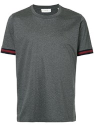 Cerruti 1881 Contrast Trim T Shirt Grey