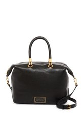 Marc By Marc Jacobs Zip Top Leather Satchel Black