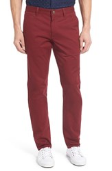 Bonobos Men's Big And Tall Slim Fit Washed Stretch Cotton Chinos Canyon Red