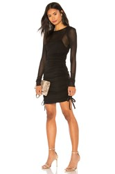 Kendall Kylie Mesh Cover Up Mini Dress Black