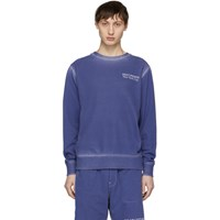 Saturdays Surf Nyc Ssense Exclusive Blue Bowery Sweatshirt