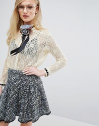 Sister Jane Lace Shirt With Metallic Cream