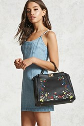 Forever 21 Floral Embroidered Satchel