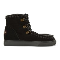 Mou Black Sneaker Lace Up Boots