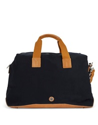 Ben Sherman Cotton And Leather Bowling Bag Navy