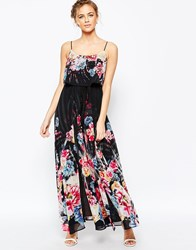 Coast Costa Rica Maxi Dress In Dark Floral Multi
