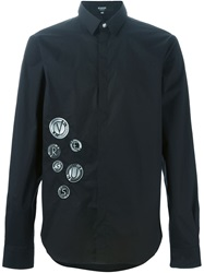 Versus Logo Embroidered Shirt Black