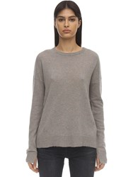 Zadig And Voltaire Cashmere Knit Sweater W Elbow Patches Beige