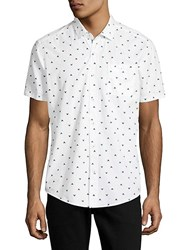 Report Collection Dolphin Tale Cotton Button Down Shirt White Multi