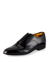 Bally Garret Patent Leather Lace Up Oxford Black