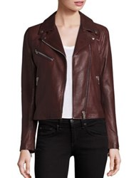 Doma Nappa Leather Moto Jacket Black Bogogna