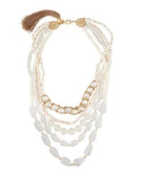 Lydell Nyc Five Row Statement Beaded Necklace