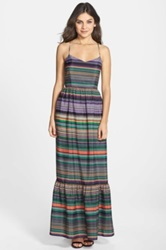 Felicity And Coco Multi Stripe Crepe De Chine Maxi Dress Regular And Petite