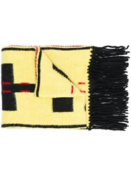 Off White Contrast Logo Scarf Yellow And Orange