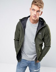 Jack And Jones Core Hooded Anorak Jacket With Pockets Rosin Black