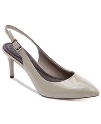 Rockport Women's Total Motion 75 Mm Pointed Toe Slingback Pumps Women's Shoes Cloud Patent