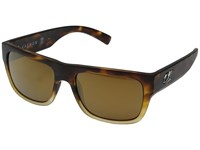 Kaenon Montecito Matte Tortoise Fade Brown 12 Polarized Gold Mirror Fashion Sunglasses Black