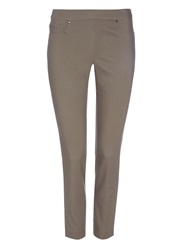 Wallis Khaki Luxe Stretch Capri Trousers