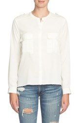 1.State Patch Pocket Blouse White