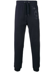 Moschino Double Question Mark Logo Track Pants Blue