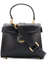 Moschino Logo Satchel Bag Black