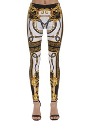 Versace Printed Stretch Jersey Leggings Multicolor
