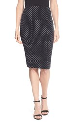 Women's Vince Camuto 'Island Pin Dot' Midi Tube Skirt