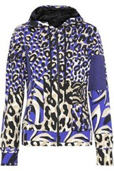 Versace Printed Stretch Cotton Jersey Hoodie Animal Print