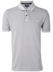 Woolrich Classic Polo Shirt Men Cotton Elastodiene M Grey