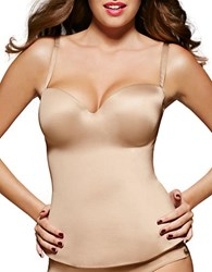 Fine Lines Low Back Strapless Bustier Nude