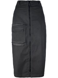 Rundholz Zipped High Waisted Skirt Grey